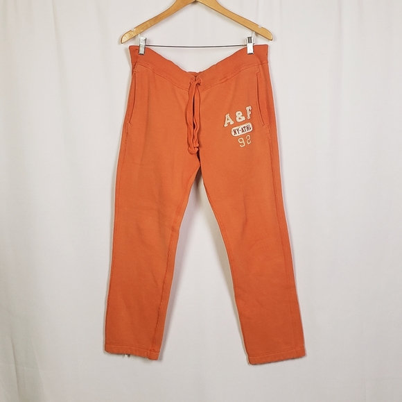 Abercrombie & Fitch Pants - Abercrombie & Fitch orange sweatpants size small